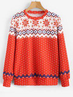 Snowflake Christmas Sweatshirt - Multi M