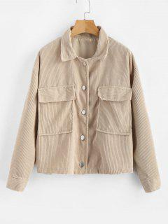 Single Breasted Corduroy Jacket - Light Khaki