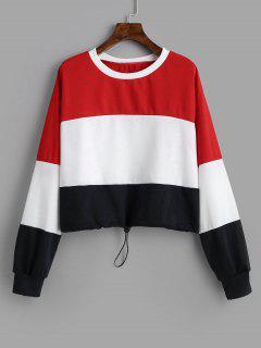 Cotton Color Block Sweatshirt - Multi L