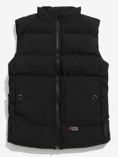 Solid Puffer Waistcoat - Black L