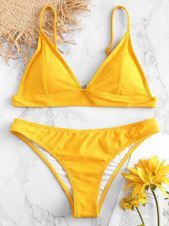 ZAFUL Padding Bikini Set - Rubber Ducky Yellow L