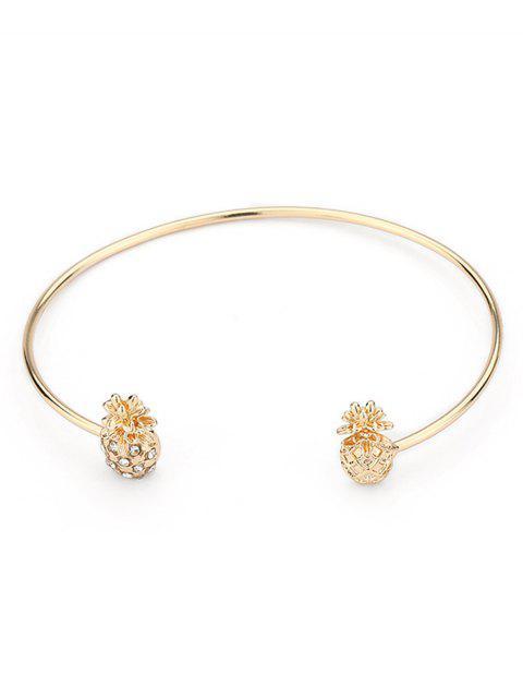 best Minimalist Pineapple Shape Cuff Bracelet - GOLD  Mobile