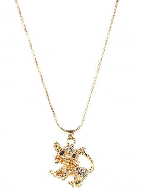 fancy Animal Design Alloy Pendant Necklace - GOLD  Mobile
