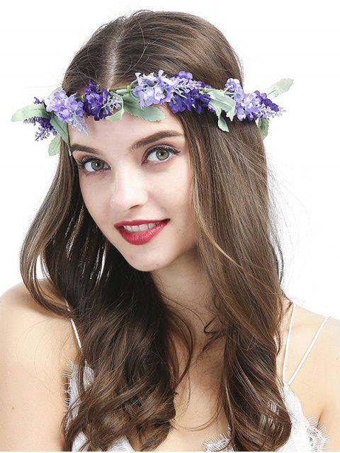 lady Flourishing Floral Hairband - PURPLE  Mobile