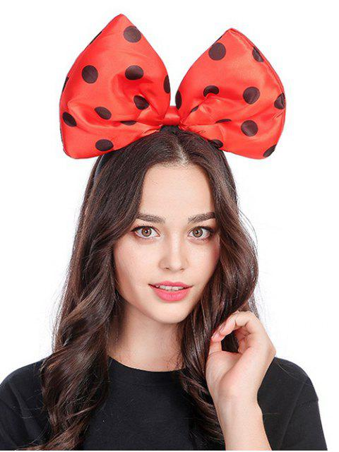 new Polka Dot Bow Shape Hair Accessories - RED  Mobile