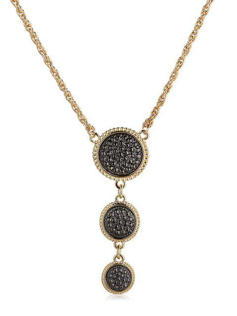 hot Round Shape Pendant Sweater Chain - GOLD  Mobile