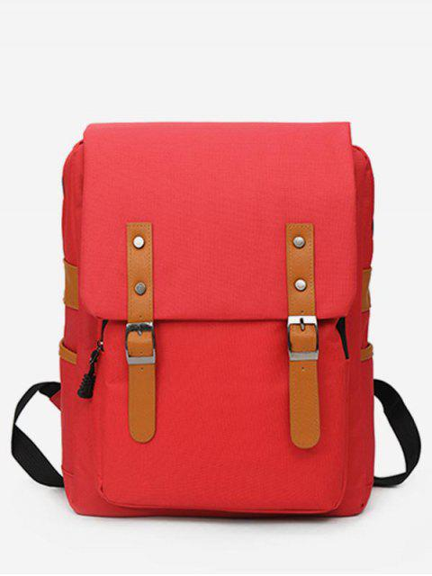 outfits Waterproof Design School Backpack - RED  Mobile
