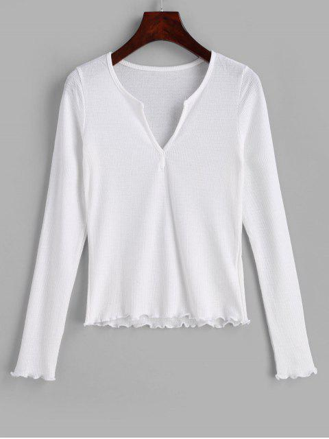latest Lettuce Long Sleeve Top - WHITE ONE SIZE Mobile