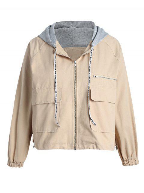 Veste à capuche à grande taille - Vanille 4X Mobile