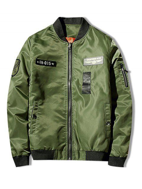 Zip Fly Shark chaqueta estampada - Verde de Helecho M Mobile