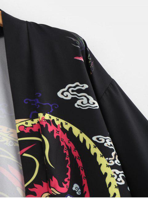 Cardigan de Kimono com estampa Phoenix - Preto L Mobile