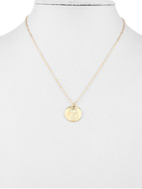 shops Pineapple Engraved Sweater Chain - GOLD  Mobile