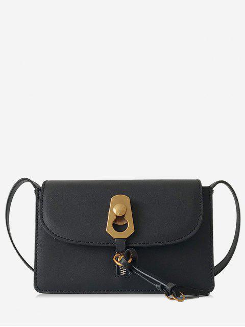new Metal Lock Cover Design Shoulder Bag - BLACK  Mobile