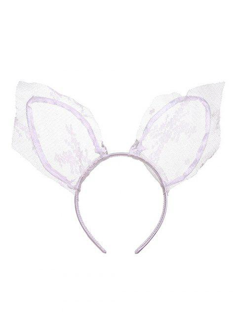 trendy Long Cat Ears Shape Fabric Hairband - WHITE  Mobile