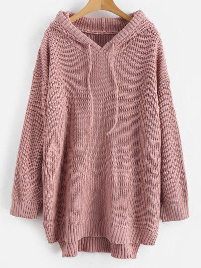 Robe pull laine rose