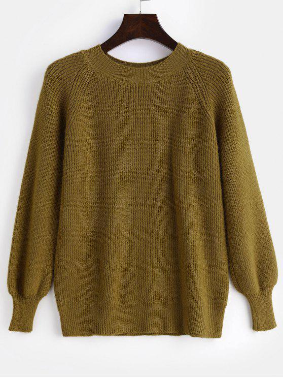 Suéter liso de manga raglán - Galletas Brown Única Talla