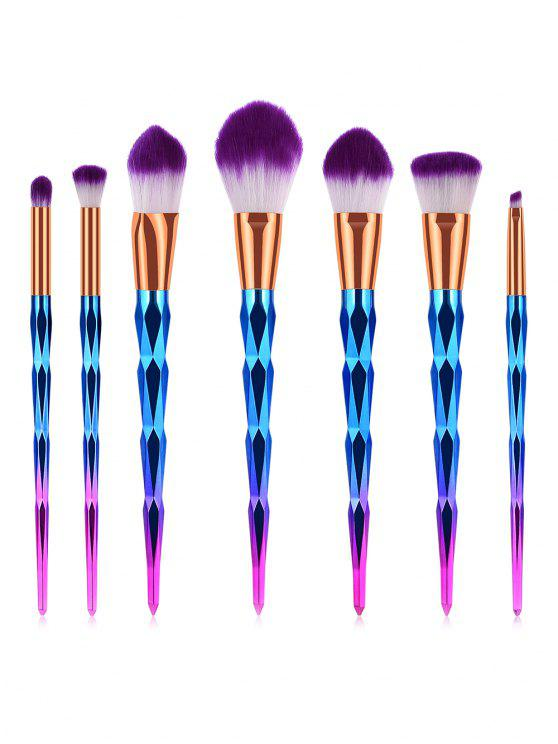 latest Professional 7 Pcs Soft Purple Hair Cosmetic Brush Set - DARK VIOLET
