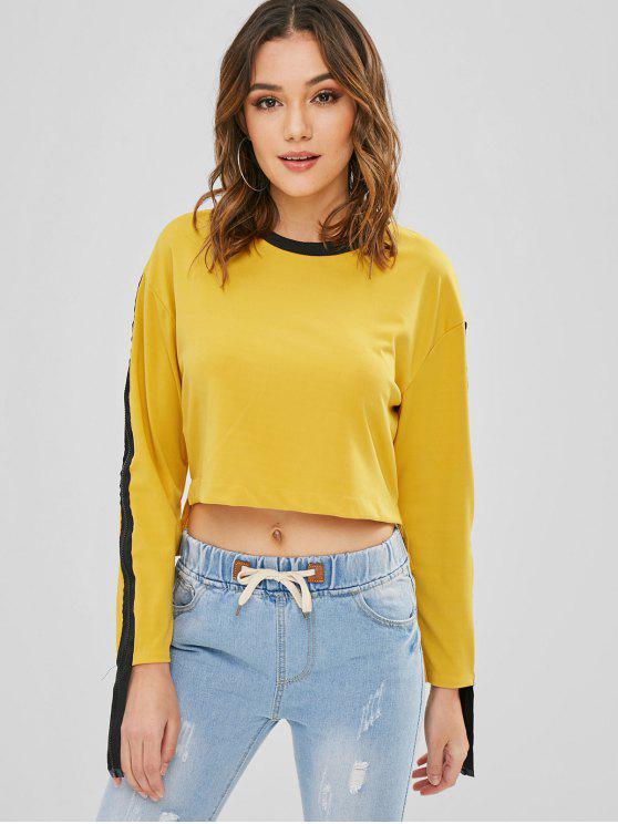 T baixo alto embelezado embelezado - Amarelo Brilhante L