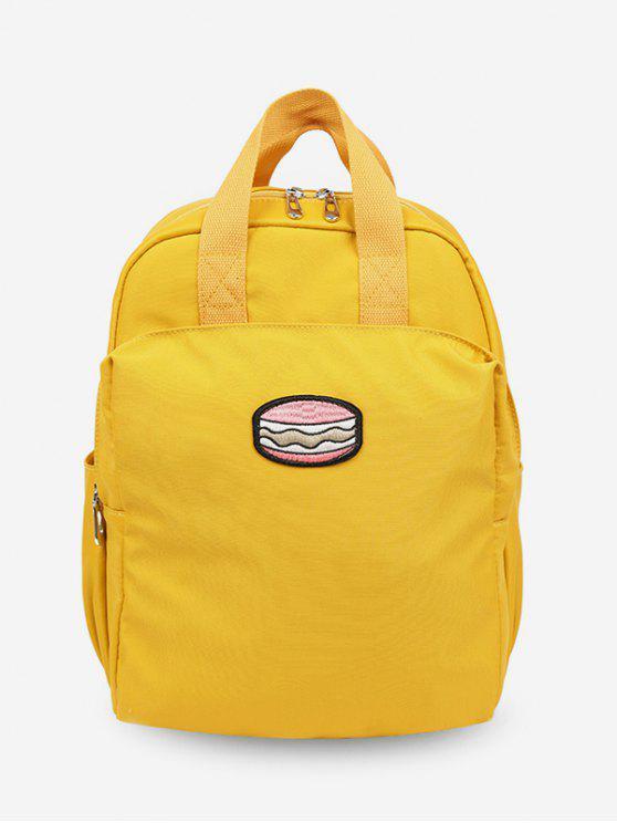 hot Cake Printed Student Backpack - GOLDENROD