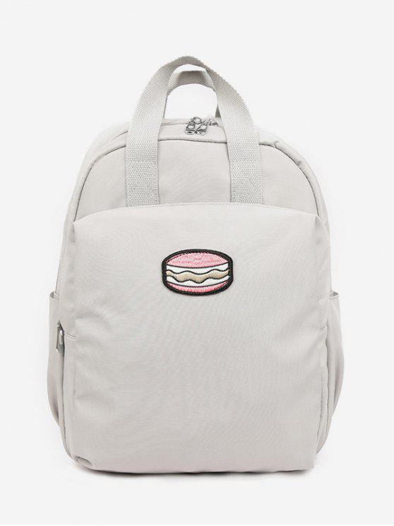 outfits Cake Printed Student Backpack - ASH GRAY