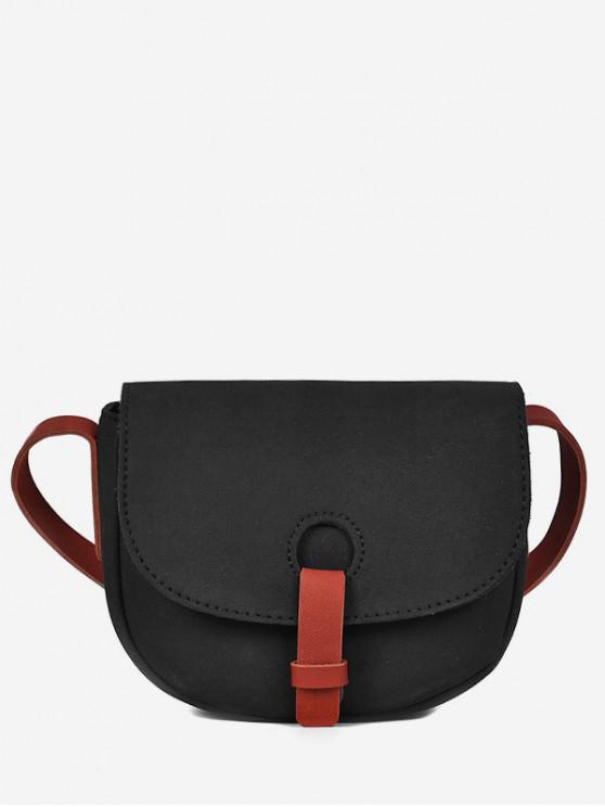 buy Sueded Cover Mini Design Crossbody Bag - BLACK