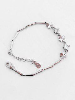 Minimalist Clover Rhinestone Bracelet - Silver