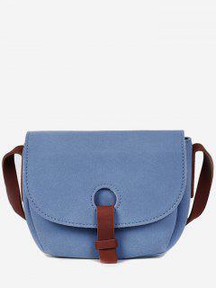 Sueded Cover Mini Design Crossbody Bag - Blue Koi