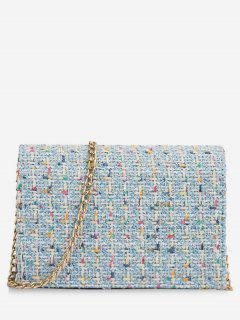 Statement Link Chain Design Mini Crossbody Bag - Blue Gray