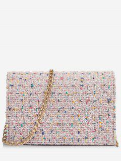 Statement Link Chain Design Mini Crossbody Bag - Pink