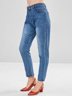 Jeans Rectos Basicos - Denim Blue M