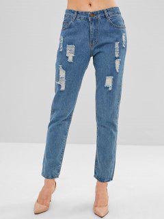 Jeans Rasgados Rasgados - Azul Denim S