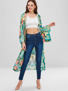 Belted Kimono Floral Blouse - Multi M