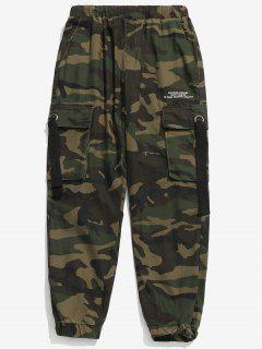 Camouflage Beam Feet Cargo Pants - Acu Camouflage M