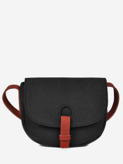 Sueded Cover Mini Design Crossbody Bag - Black