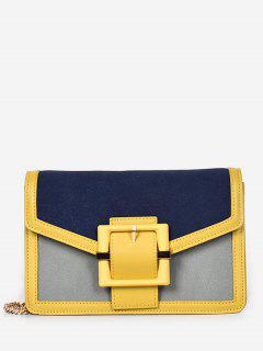 Magnetic Snap Surb Design Crossbody Bag - Bright Yellow