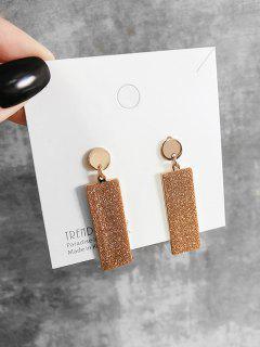Geometric Design Grind Tassel Earrings - Gold