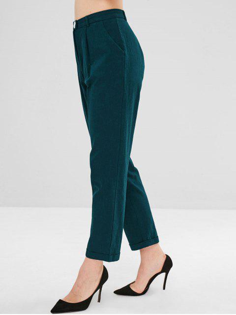 Pantalones de talle alto - Azul Verdoso S Mobile