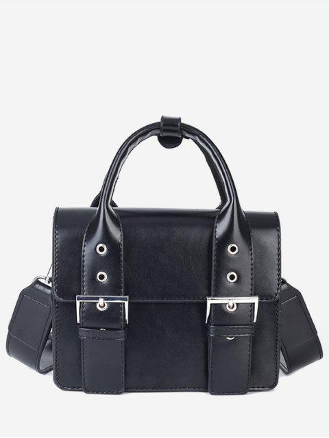 outfit Wideband Design Square Tote Bag - BLACK  Mobile