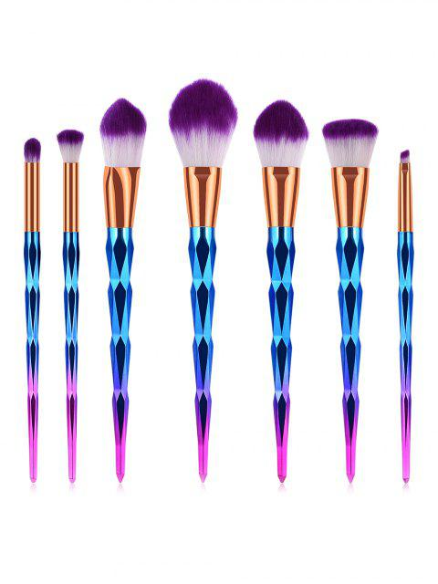 latest Professional 7 Pcs Soft Purple Hair Cosmetic Brush Set - DARK VIOLET  Mobile
