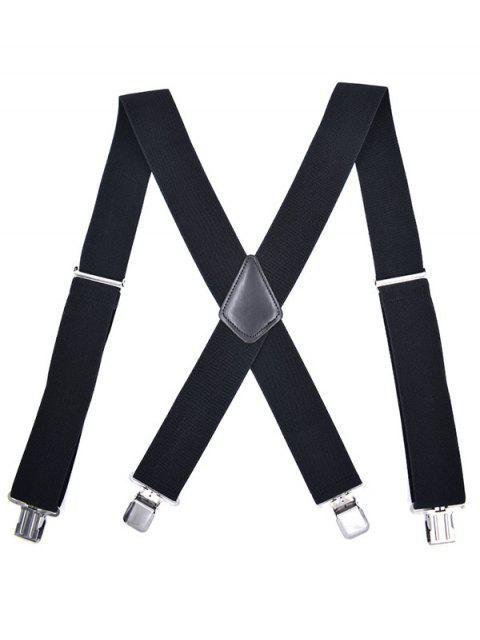 outfits Casual Elastic Clip Design Suspenders - BLACK  Mobile