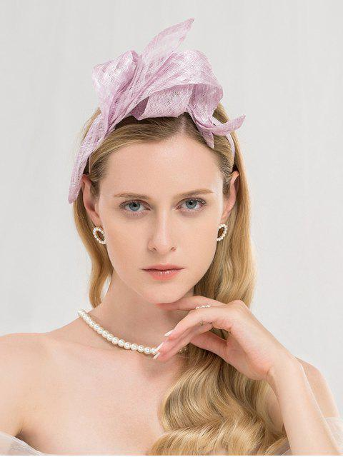 chic Elegant Wedding Cocktail Party Hair Hoop - MAUVE  Mobile