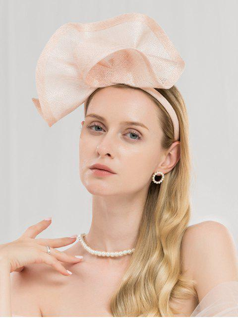 unique Solid Color Cocktail Party Hair Hoop - LIGHT PINK  Mobile