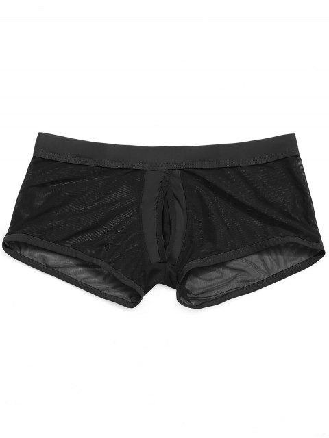 outfits Mesh Jock Strap Boxer Pouch Briefs - BLACK L Mobile