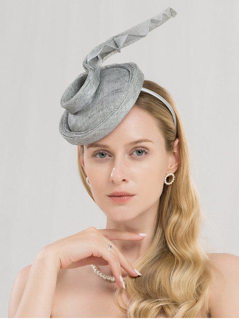 women Elegant Banquet Wedding Hair Hoop - SILVER  Mobile