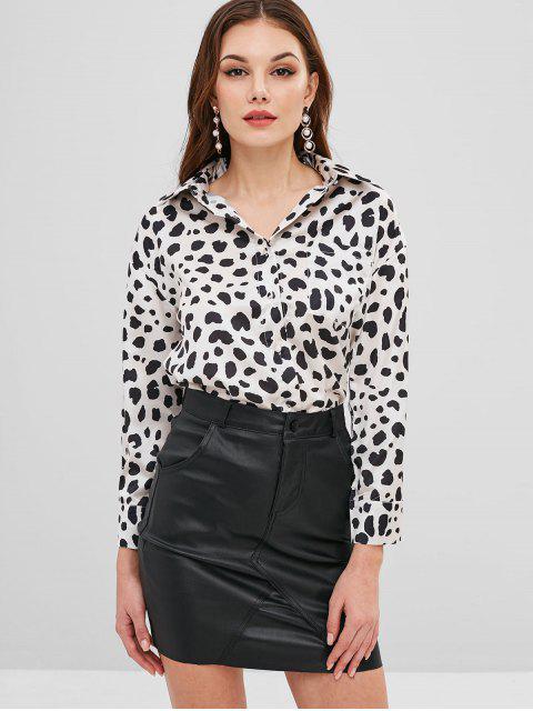 affordable Pocket Button Down Leopard Shirt - LEOPARD S Mobile