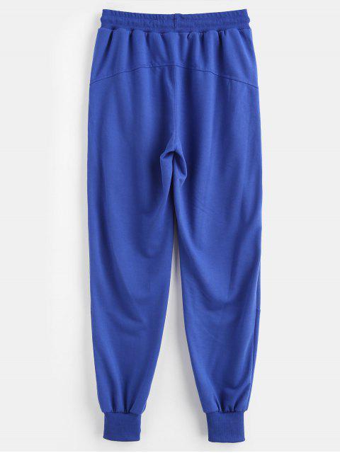 Pantalones deportivos de panel a rayas - Azul de Arándanos S Mobile