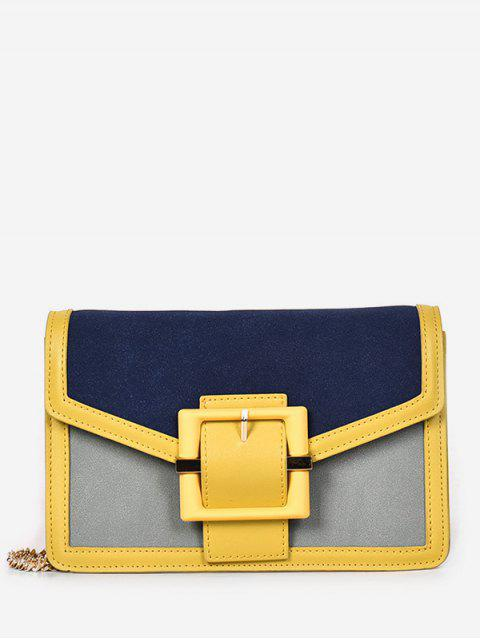 fancy Magnetic Snap Surb Design Crossbody Bag - BRIGHT YELLOW  Mobile