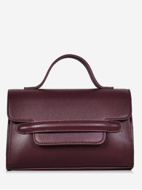 womens Solid Color Cover Design Handbag - DEEP COFFEE  Mobile