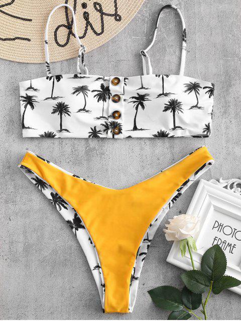 ZAFUL Ensemble de Bikini Réversible Boutonné Noix de Coco - Blanc L Mobile