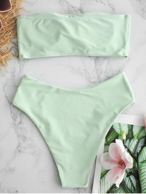 Maillot de bain bandeau coupe haute - Vert Menthe M Mobile